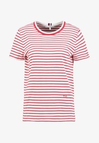 Tommy Hilfiger - ESSENTIAL RELAXED TEE - Print T-shirt - red - 4