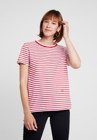 Tommy Hilfiger - ESSENTIAL RELAXED TEE - Print T-shirt - red - 0