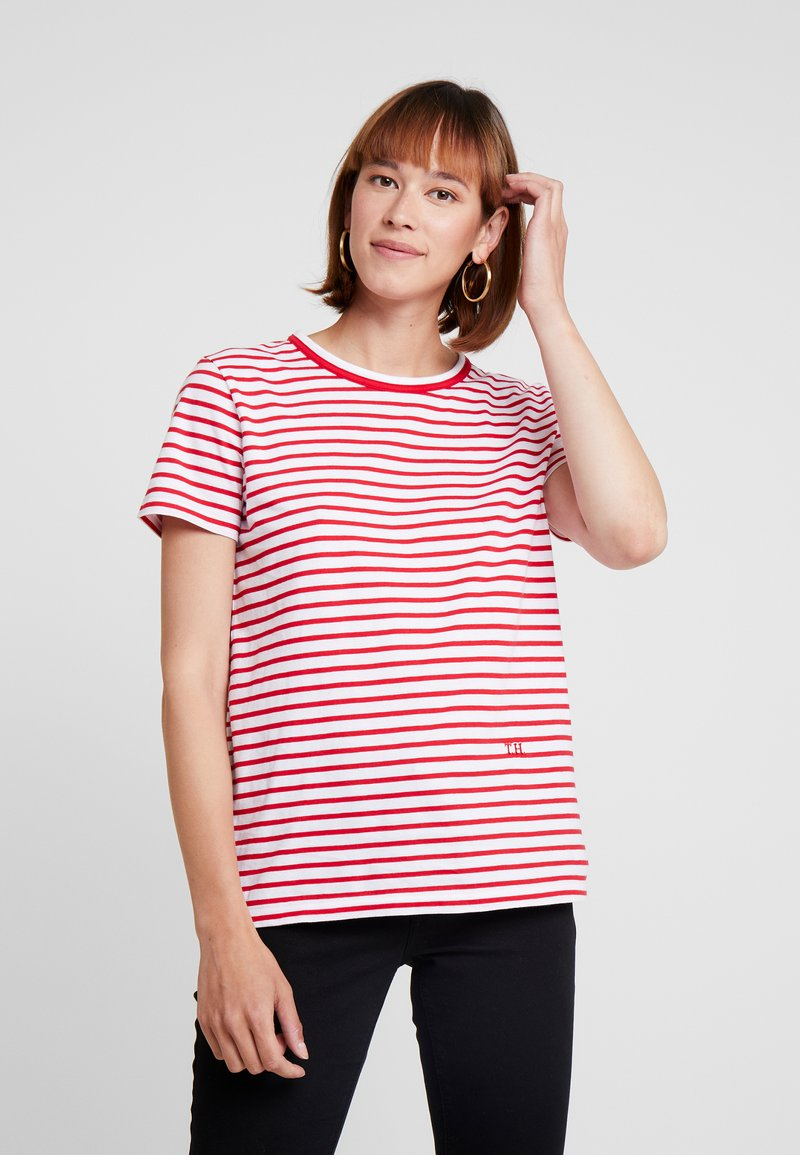 Tommy Hilfiger - ESSENTIAL RELAXED TEE - Print T-shirt - red