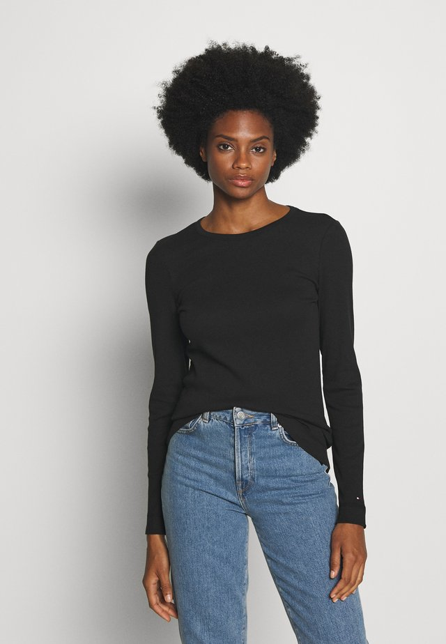 SKINNY TEE - Jersey de punto - black