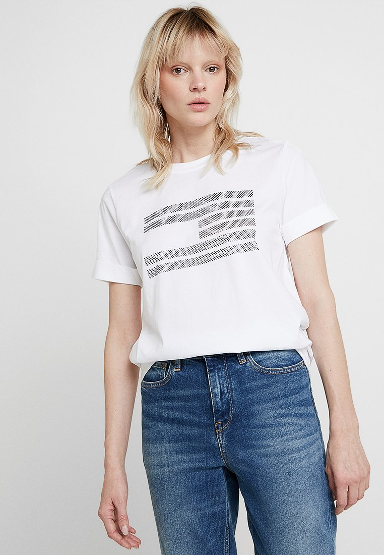 Tommy Hilfiger - TYARA TEE - T-Shirt print - white