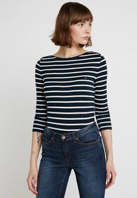 Tommy Hilfiger - HERITAGE BOAT NECK TEE 3/4 - T-shirt à manches longues - midnight/classic white - 0