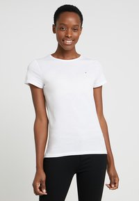 Tommy Hilfiger - HERITAGE CREW NECK TEE - Basic T-shirt - classic white - 0