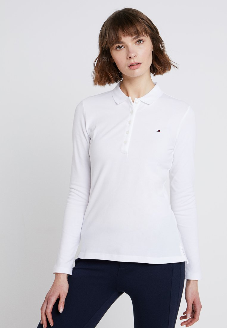 Tommy Hilfiger - HERITAGE LONG SLEEVE SLIM  - Polo shirt - classic white