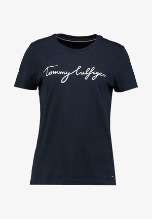 HERITAGE CREW NECK GRAPHIC TEE - T-shirt imprimé - midnight