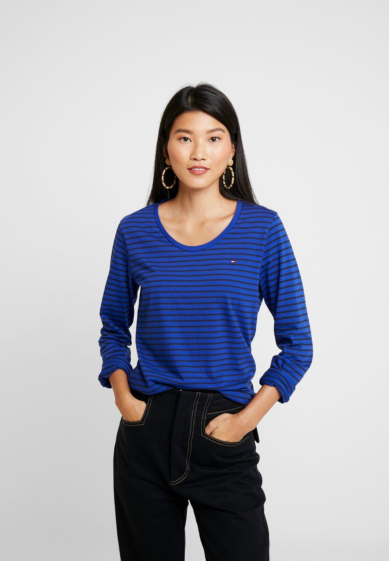 Tommy Hilfiger - KAROLA SCOOP - Long sleeved top - blue