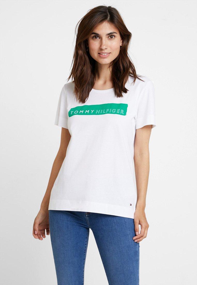Tommy Hilfiger - BILLIE ROUND TEE - Print T-shirt - white