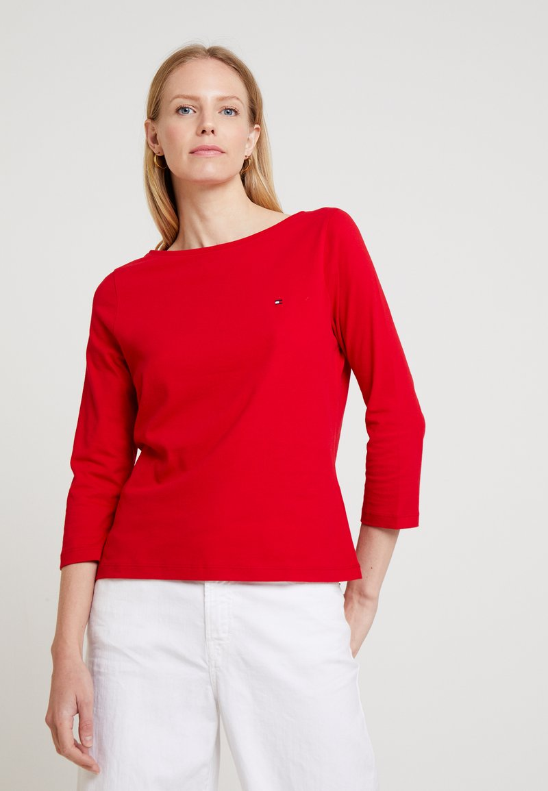 Tommy Hilfiger - NEW TILLY BOAT - Long sleeved top - red