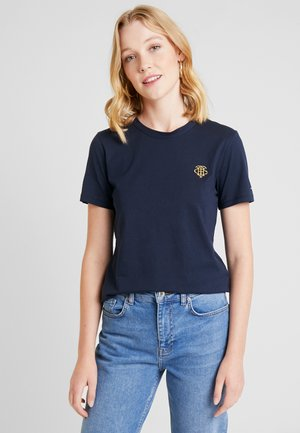 ESSENTIAL EMBROIDERY TEE - Printtipaita - blue