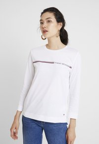Tommy Hilfiger - KATIE TEE - Long sleeved top - white - 0