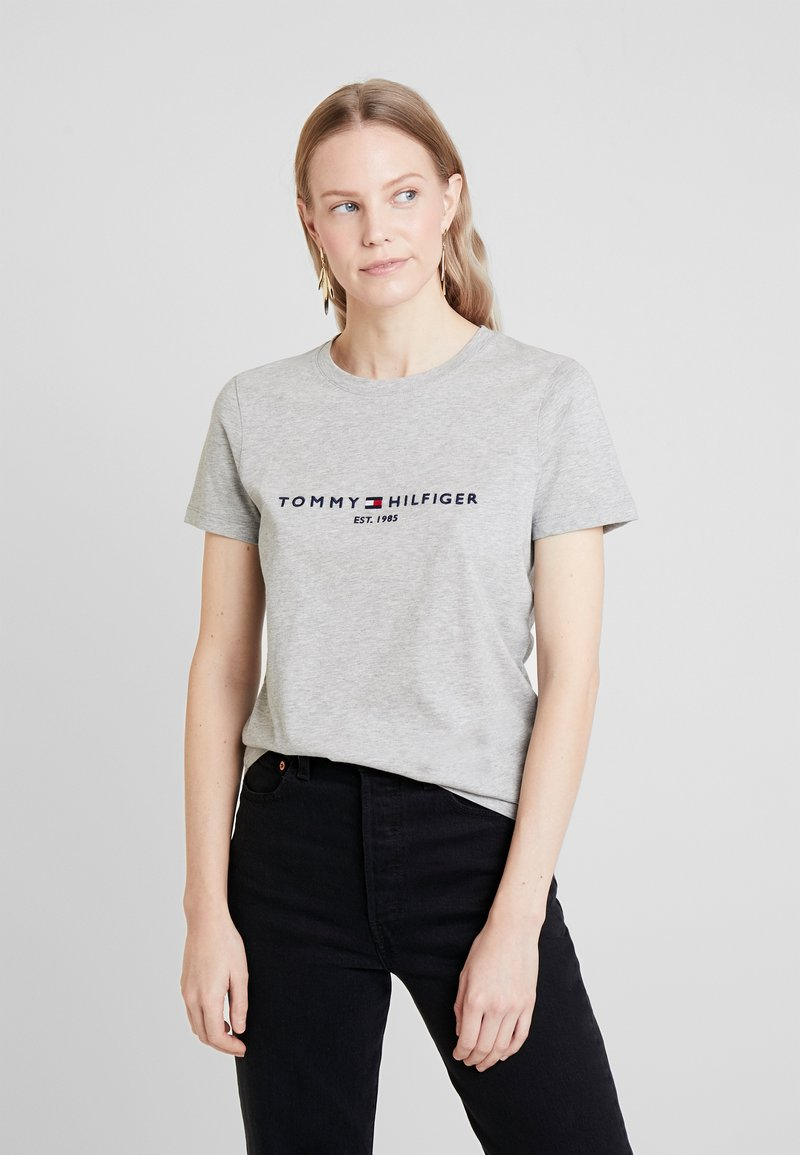 Tommy Hilfiger - NEW TEE  - Print T-shirt - light grey heather