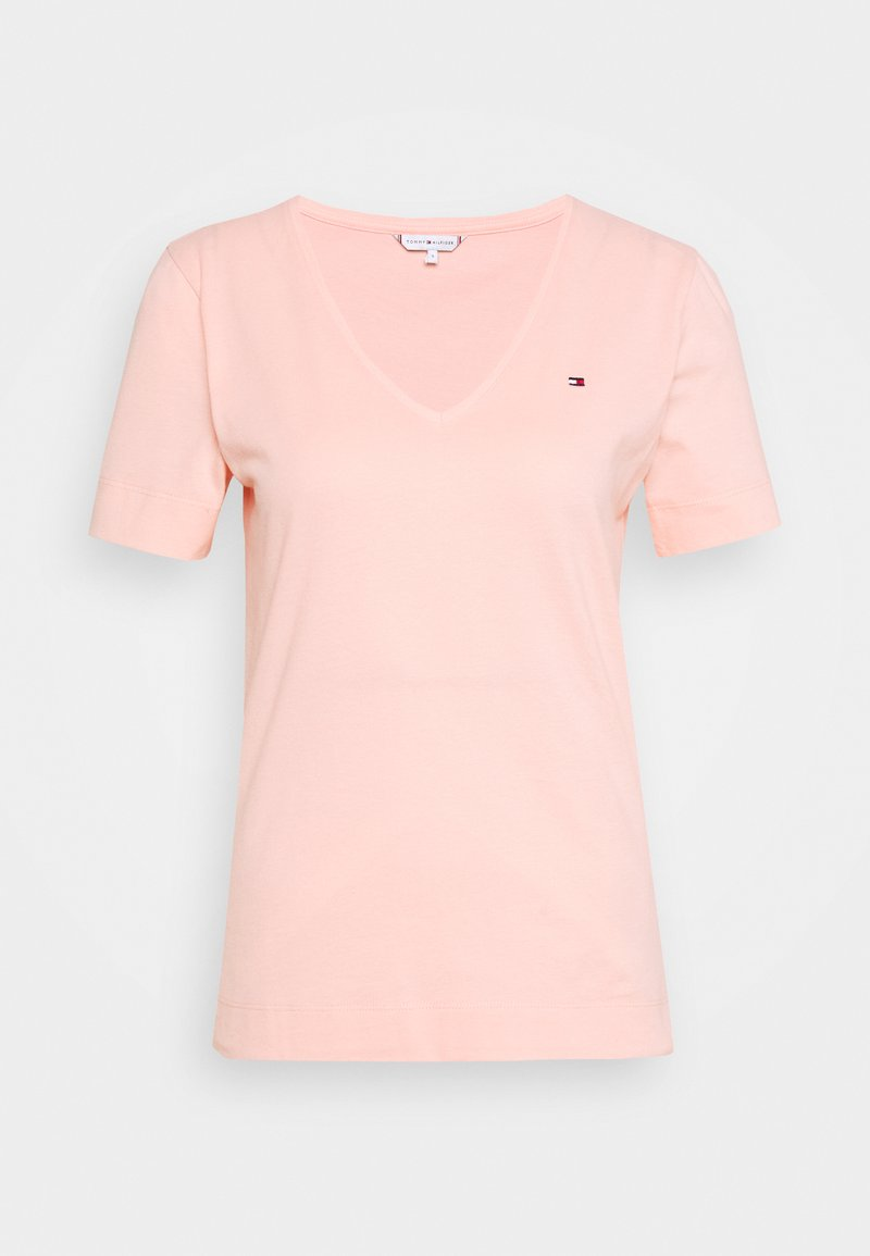 Tommy Hilfiger - CLASSIC  - T-shirt basic - washed watermelon pink