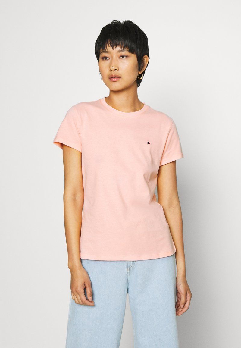 Tommy Hilfiger - CLASSIC - Basic T-shirt - washed watermelon pink