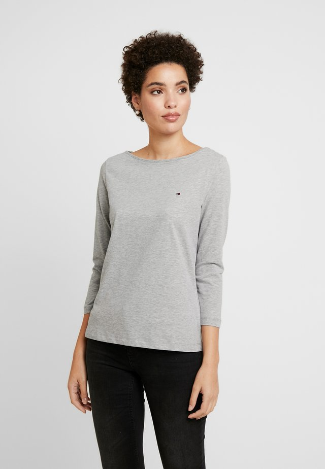CLASSIC BOAT NECK 3/4 SLEEVE  - Long sleeved top - light grey heather