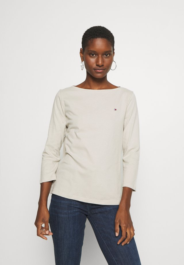 CLASSIC BOAT NECK 3/4 SLEEVE  - Long sleeved top - light stone