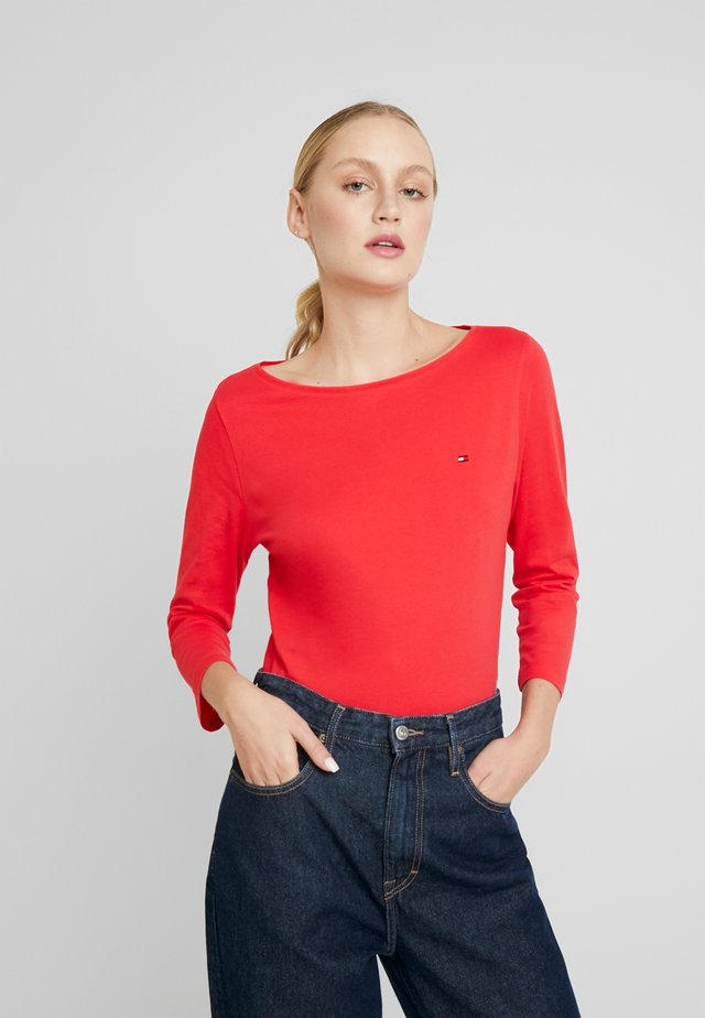 CLASSIC BOAT NECK 3/4 SLEEVE  - Long sleeved top - red alert