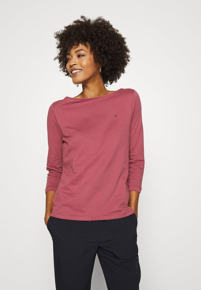 Long sleeved top - misty red