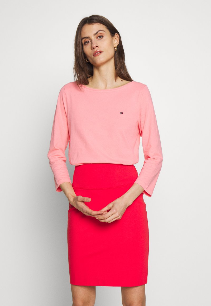 Tommy Hilfiger - CLASSIC BOAT NECK 3/4 SLEEVE  - T-shirt à manches longues - pink grapefruit