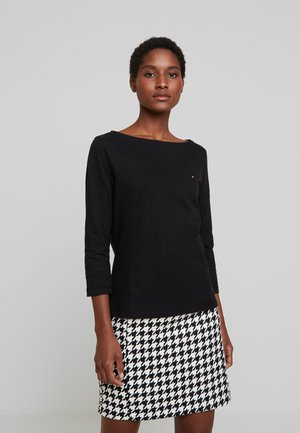 CLASSIC BOAT NECK 3/4 SLEEVE  - Long sleeved top - black