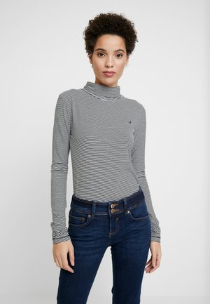 ESSENTIAL ROLL - Long sleeved top - white/black