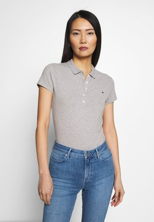 NEW SHORT SLEEVE SLIM - Polo shirt - light grey heather