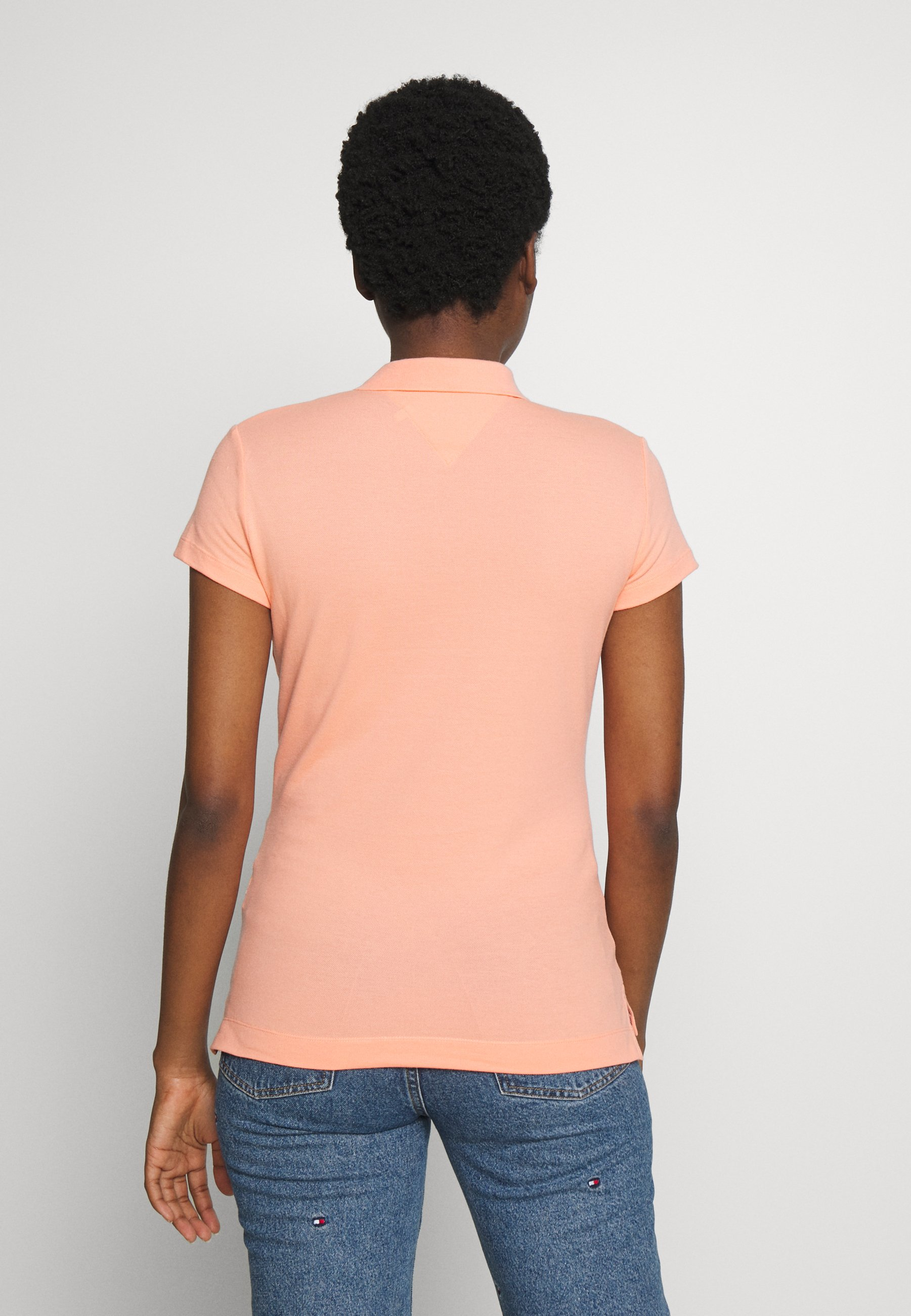 Tommy Hilfiger NEW SHORT SLEEVE SLIM - Polo shirt - island coral