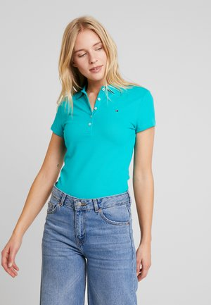 NEW SHORT SLEEVE SLIM - Polo shirt - aqua teal