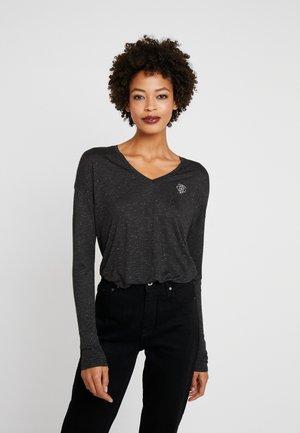 POPPY V-NK - Long sleeved top - black