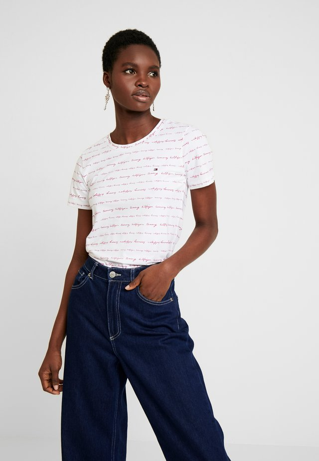 ESSENTIAL ROUND - Print T-shirt - white