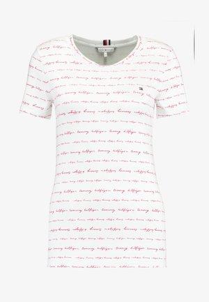 ESSENTIAL ROUND - T-shirt imprimé - white