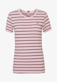 Tommy Hilfiger - ESSENTIAL ROUND - T-shirt med print - global oxford/pale pink - 4