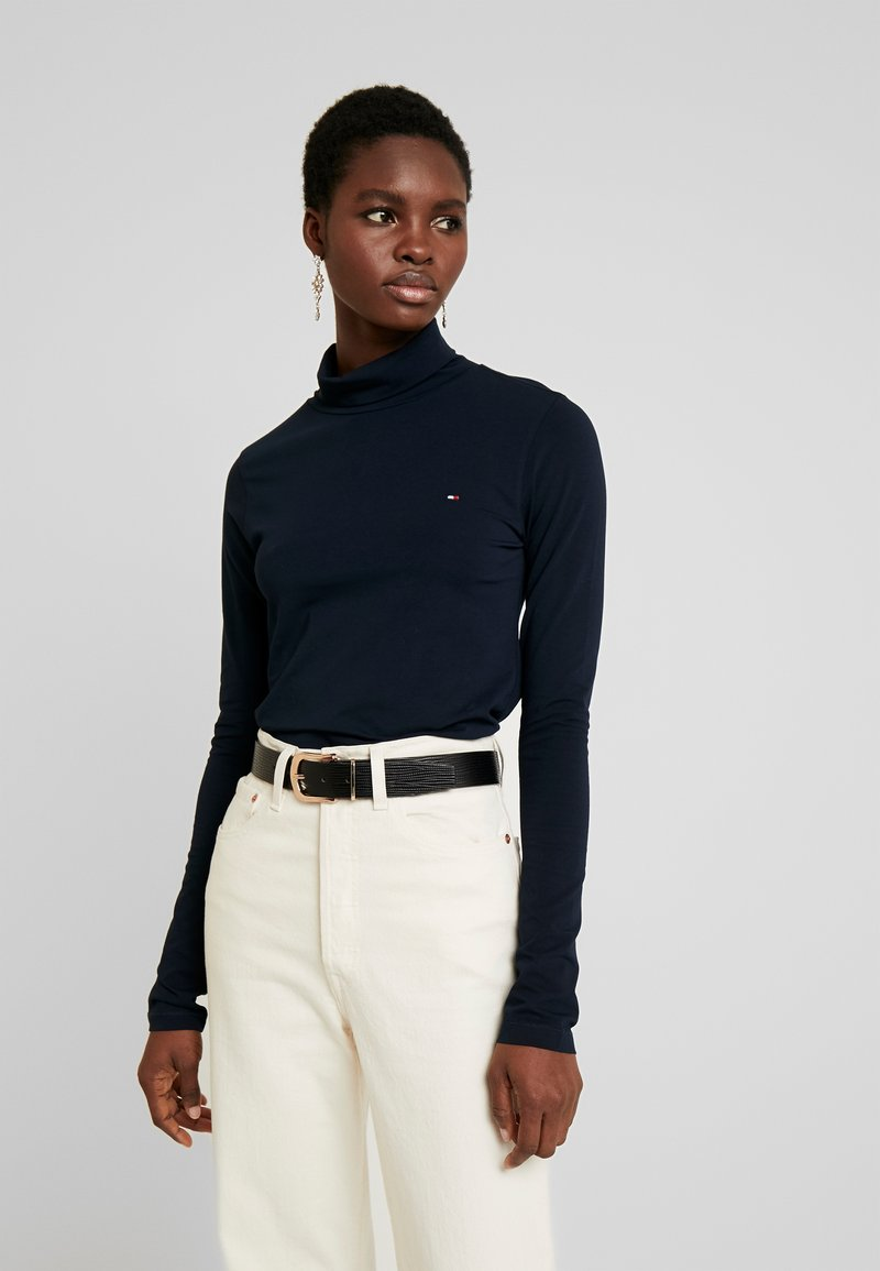 Tommy Hilfiger - ESSENTIAL ROLL - Long sleeved top - desert sky