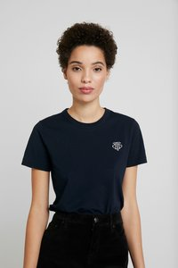 Tommy Hilfiger - EMBROIDERY TEE - T-paita - desert sky - 0