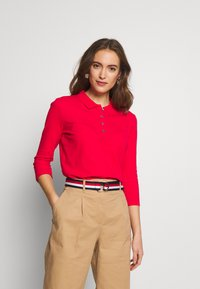 Tommy Hilfiger - ESSENTIAL POLO - T-shirt à manches longues - red alert - 0