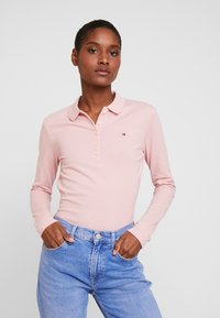 Tommy Hilfiger - LONG SLEEVE SLIM - Polo shirt - frosted pink - 0