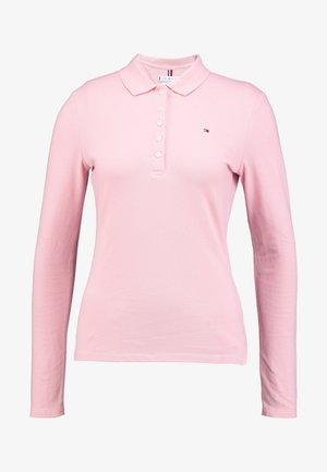 LONG SLEEVE SLIM - Polo - frosted pink