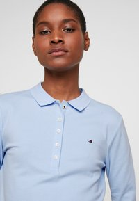 Tommy Hilfiger - LONG SLEEVE SLIM - Polo shirt - breezy blue - 4
