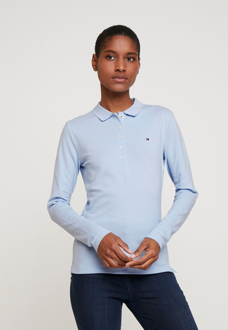 Tommy Hilfiger - LONG SLEEVE SLIM - Polo shirt - breezy blue