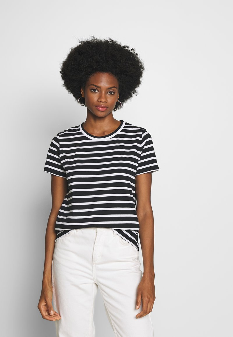 Tommy Hilfiger - COOL RELAXED TEE - T-shirt imprimé - white/black