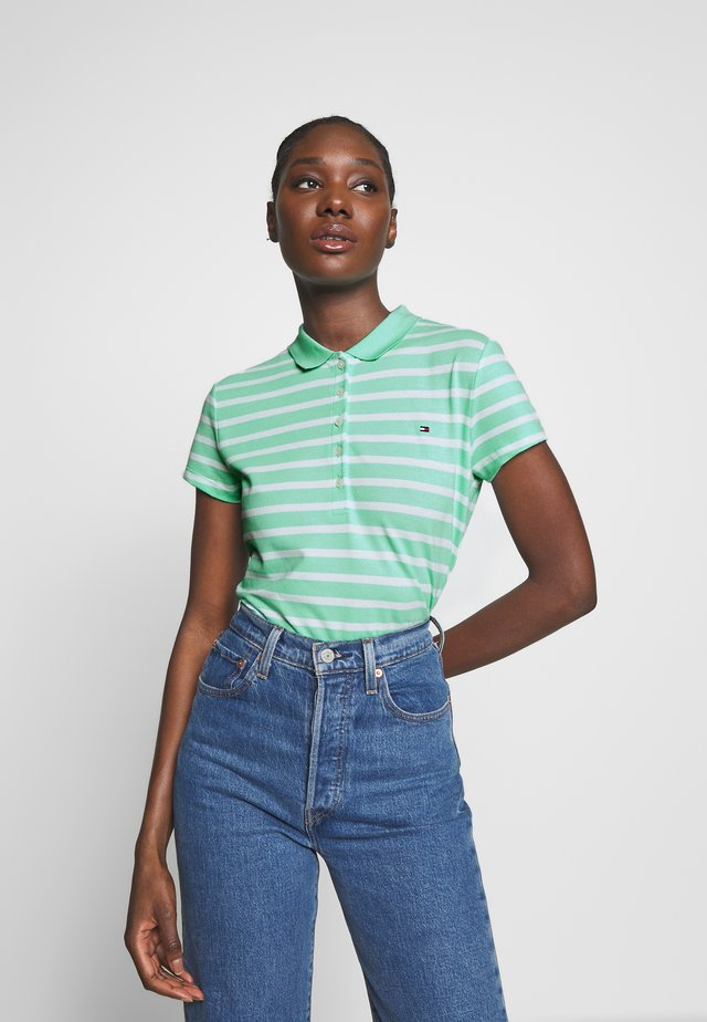 SHORT SLEEVE SLIM STRIPE - Polo - menthol