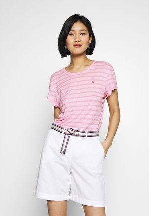 VIKKI ROUND - Basic T-shirt - breton/frosted pink