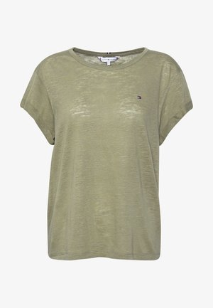 VIKKI TOP  - Print T-shirt - faded olive