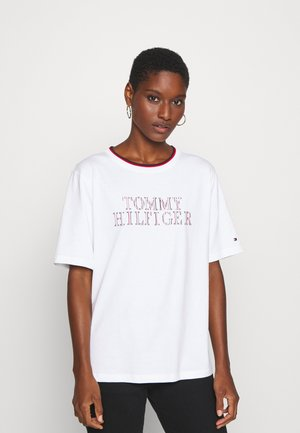 CARLY RELAXED - T-shirt imprimé - white