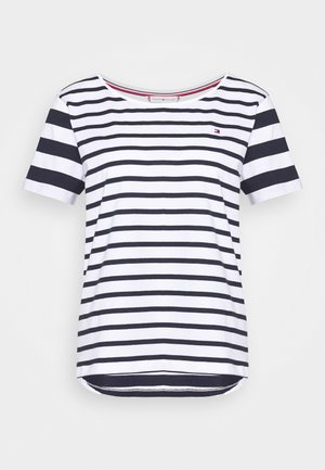 CANDICE - T-shirt con stampa - breton white/desert sky