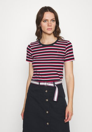 ESSENTIAL ROUND - T-shirt con stampa - ombre/primary red