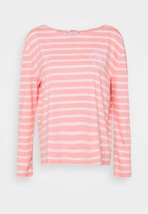 Long sleeved top - breton/pale pink