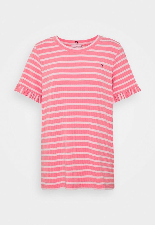 TANJA RELAXED - Camiseta estampada - breton/pink