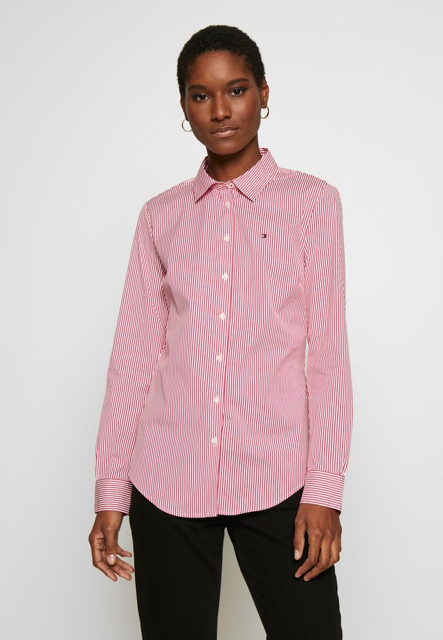 ESSENTIAL - Button-down blouse - light pink/white
