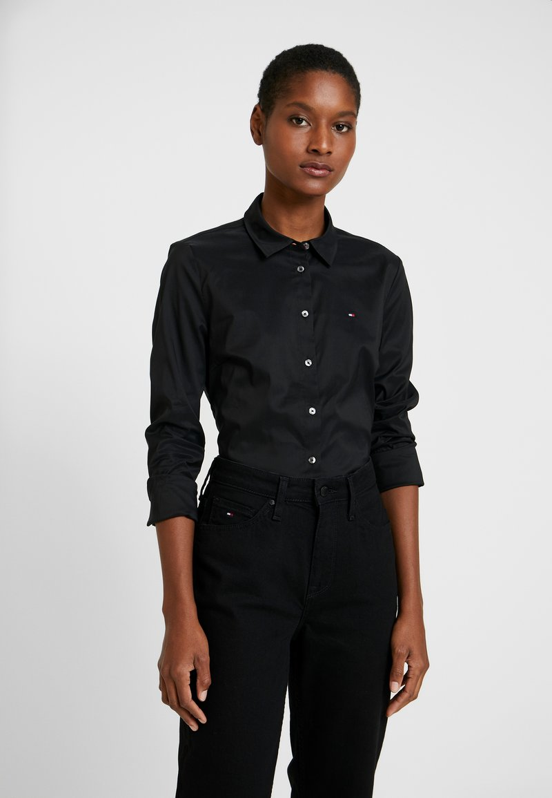 Tommy Hilfiger - ESSENTIAL - Button-down blouse - black