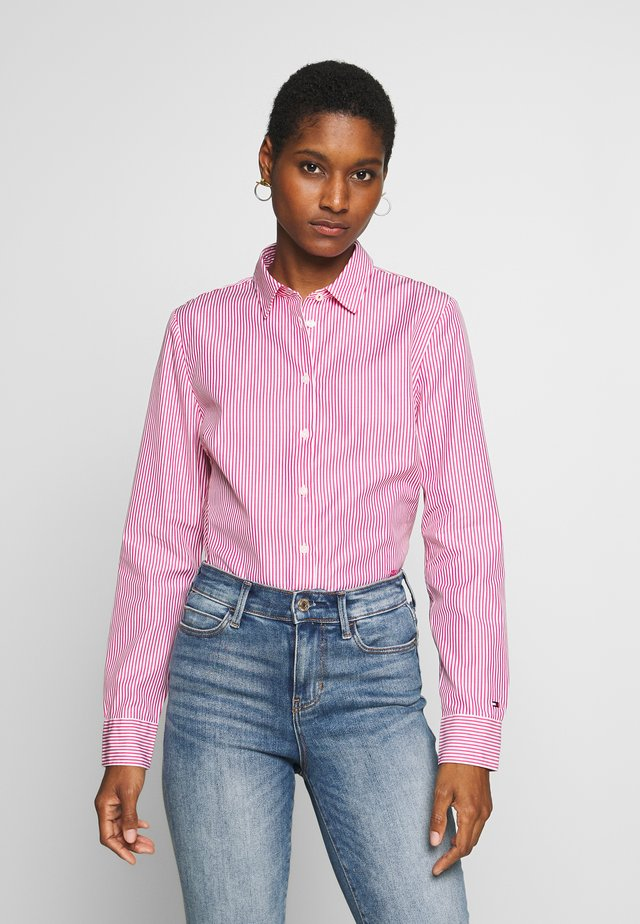 DANNA - Button-down blouse - pink jewel